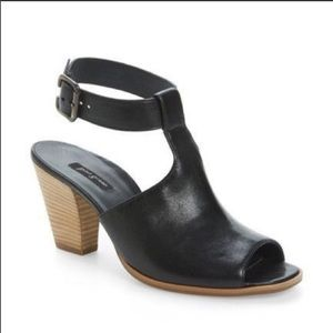 Paul Green Black Madonna Ankle Strap Sandals